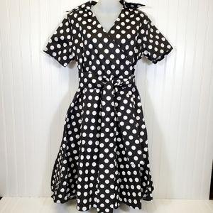 NWT Polka Dot Dress Black and White XXL